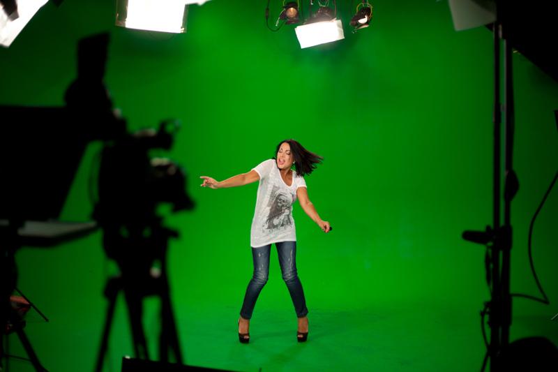 HD Box studio: Studio fond vert paris en location